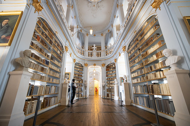 Beautiful historic library in Weimar, Germany