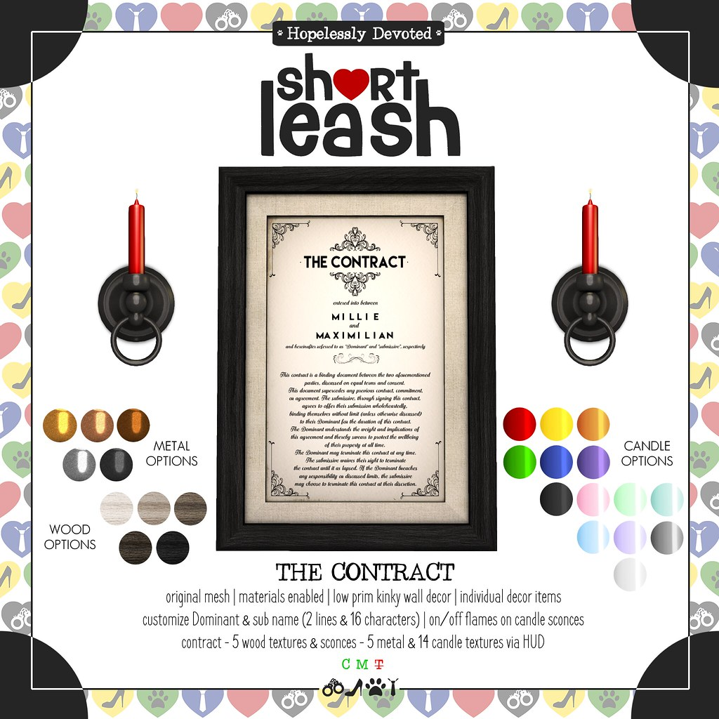 .:Short Leash:. The Contract Set