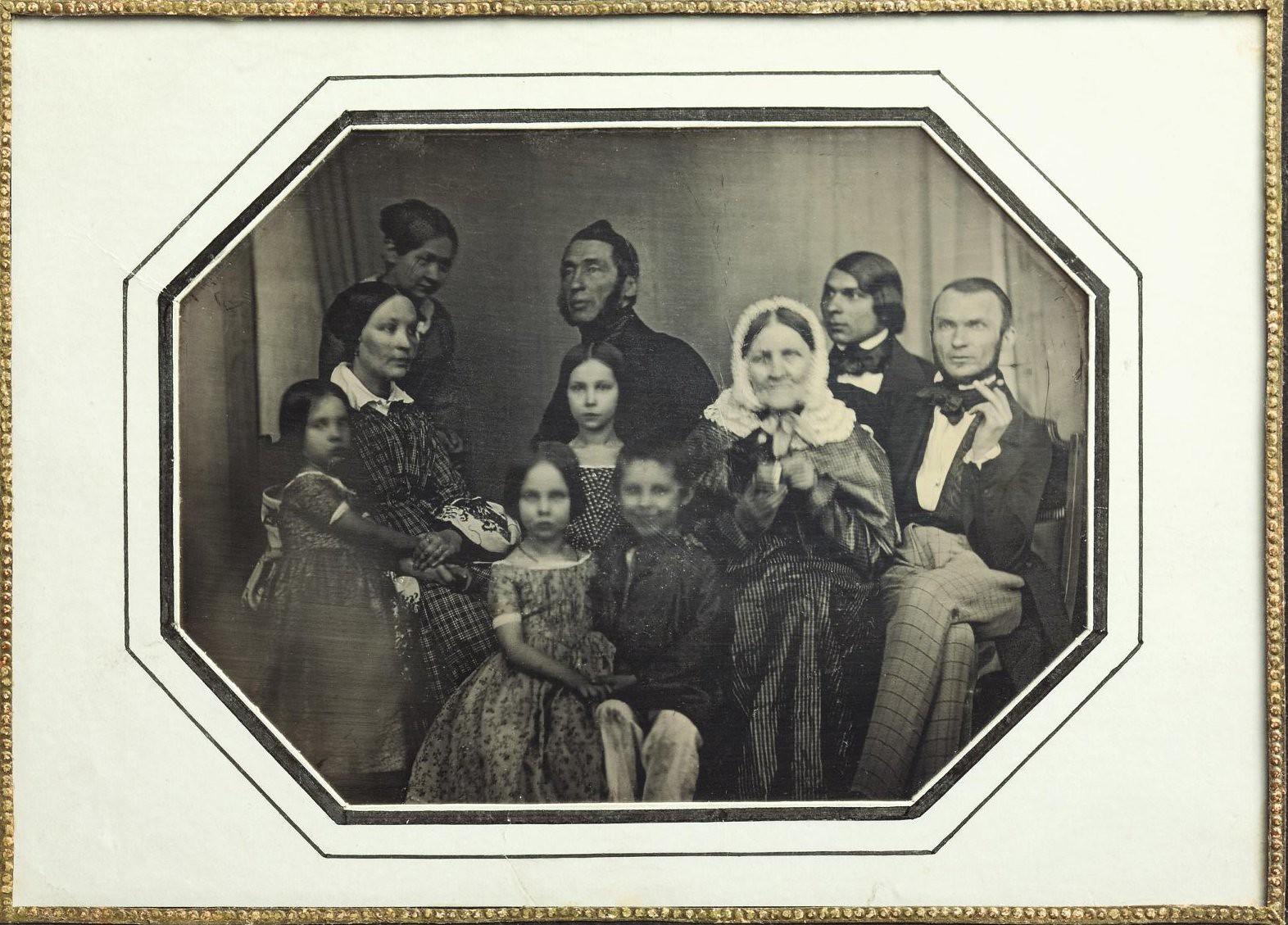 1846. Семейный портрет Зиловых и лиц из их окружения
