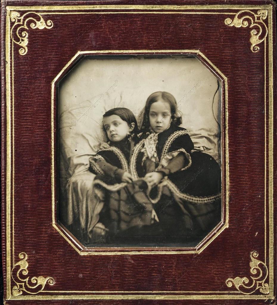 1840-е. Портрет девочек из семьи Стрешневых