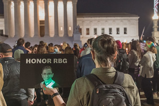 Vigil for Ruth Bader Ginsburg at Supreme Court | by yashmori