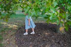 Margie under a tree