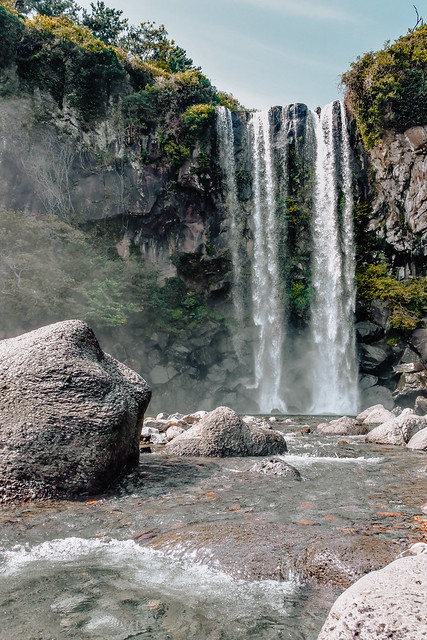 Jeongbang Waterfall, Jeju Island