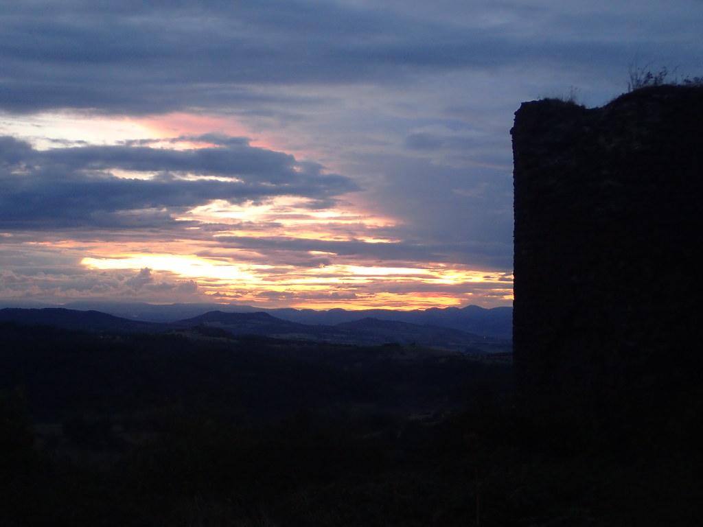 château, le soir
