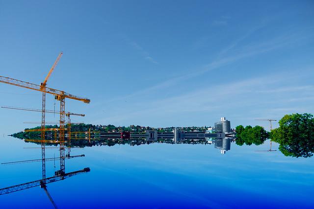 Stuttgart gespiegelt.