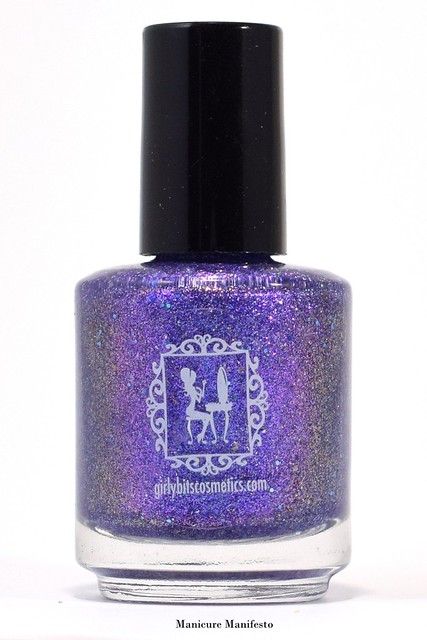 Girly Bits Cosmetics OOAK Purple Flakie Shimmer Review