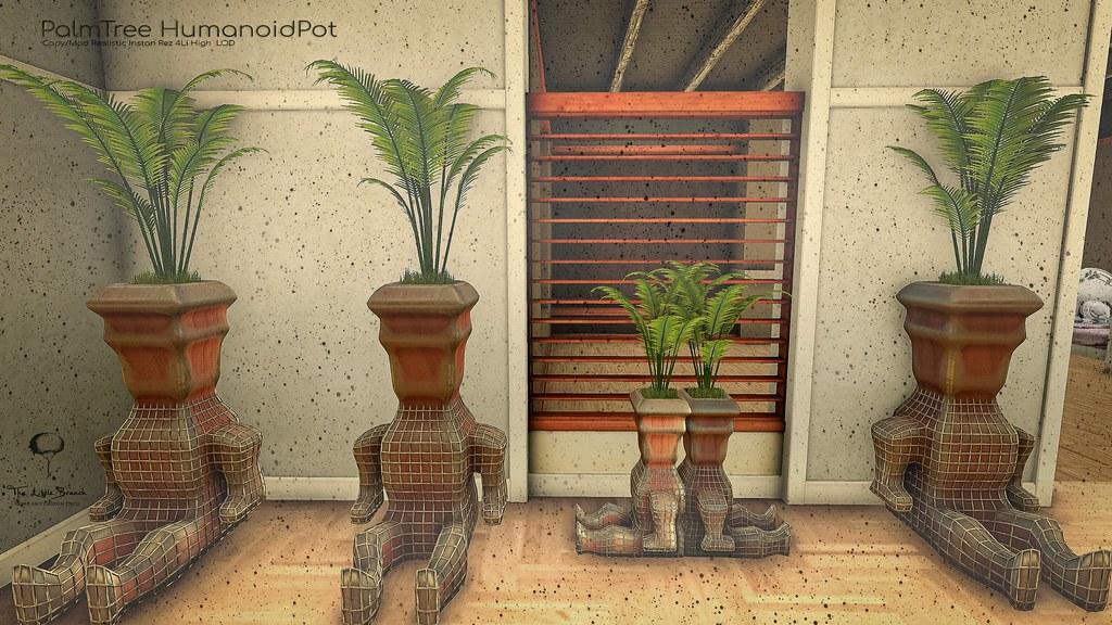 The Little Branch – Palm Tree Humanoid Pot @Shiny Shabby