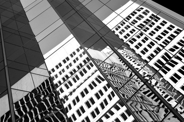 Downtown Houston reflections (infrared)