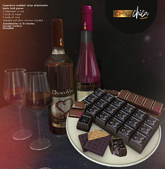 Choco wine and treats dispensers by ChicChica @ Cosmopolitan