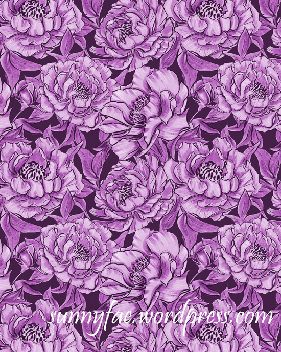 a pattern of peonies