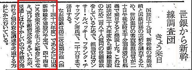 山陽新幹線と世界銀行