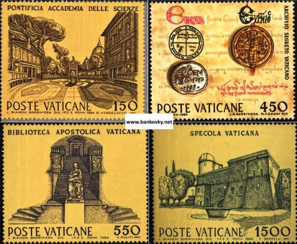 Známky Vatikán 1984 Veda, nerazítkovaná séria