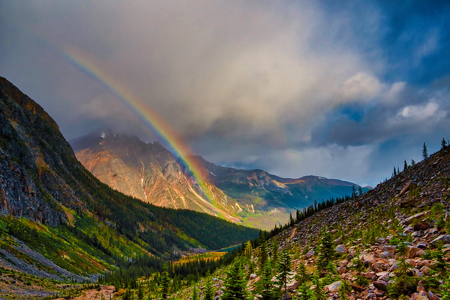 Rainbow over Aquila Mountain