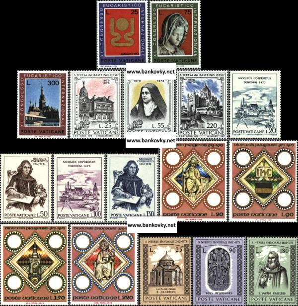 Známky Vatikán 1973 5 kompletných sérií