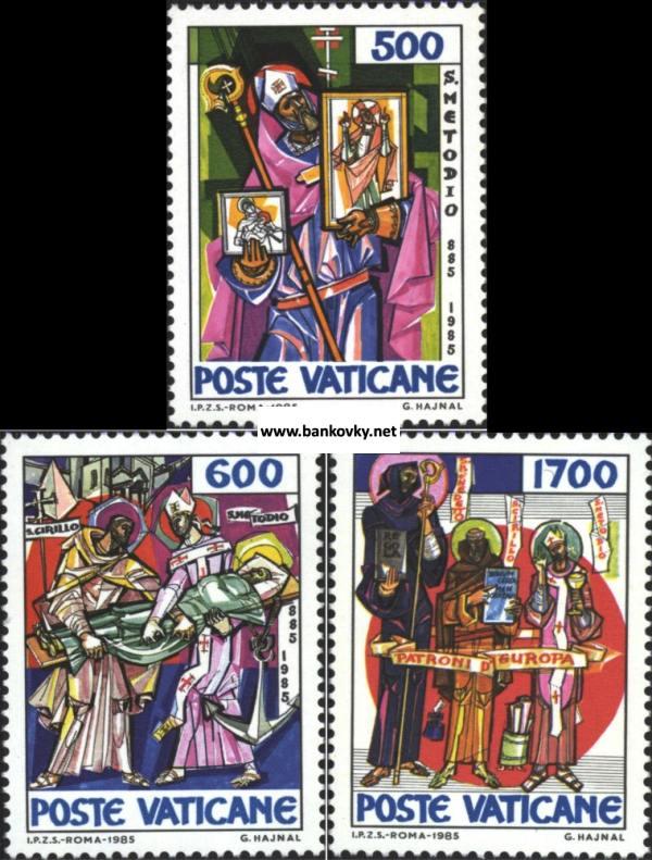 Známky Vatikán 1985 Sv. Metod nerazítkovaná séria MNH