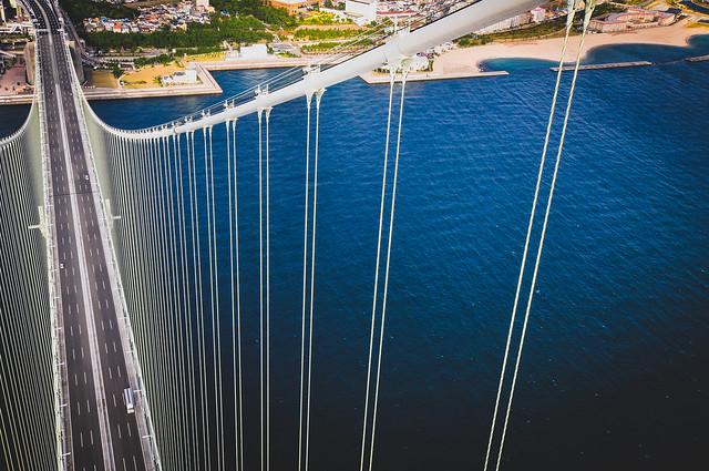 Akashi Straits Bridge, Hyogo Prefecture, Japan 明石海峡大橋、兵庫県