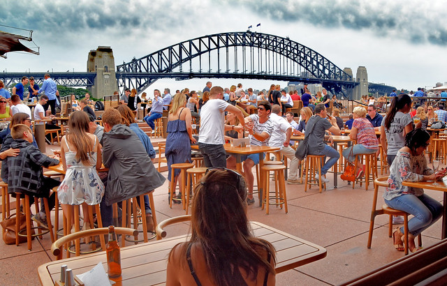 Harbour Bridge, People and Benches. (Explored 22/09/20)