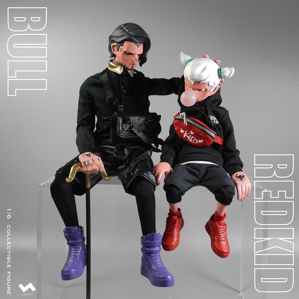 J.T Studio Street Mask 系列【BULL & RedKid】1/6 比例人偶