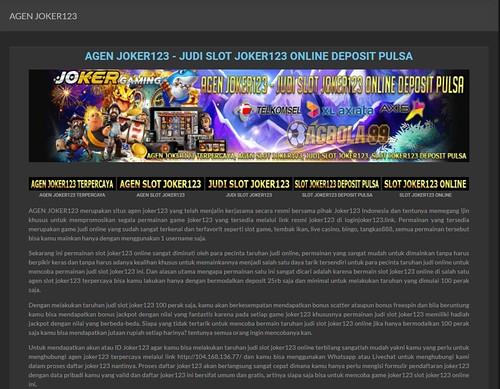 Panduan Bakal Memaksimalkan Manfaat Permainan Situs Judi Slot Online Joker123 Gaming Terbaik On Line Kalian 보도기사 제54회 처용문화제 공식홈페이지