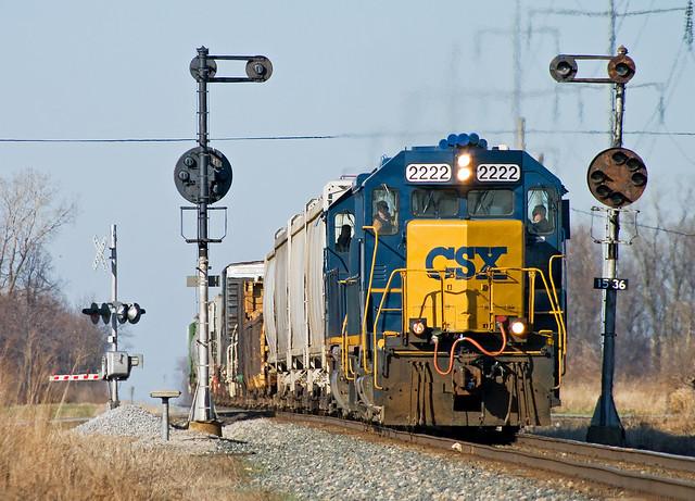 CSXT 2222, CSX Toledo Subdivision, Leipsic, Ohio