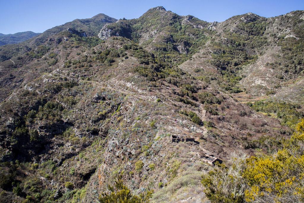 Vista del caserío de las Moradas desde El Paridero (Monte del Agua) en Tenerife