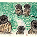 Japanese Flower and Bird Art posted a photo:Japanese art print by Yoshio Kubota (active late 1900s)