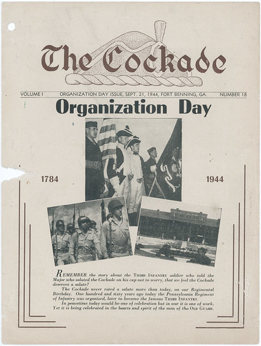 1944-09-21-The Cockade newsletter-Organization Day-Fort Benning-01 | by Old Guard History
