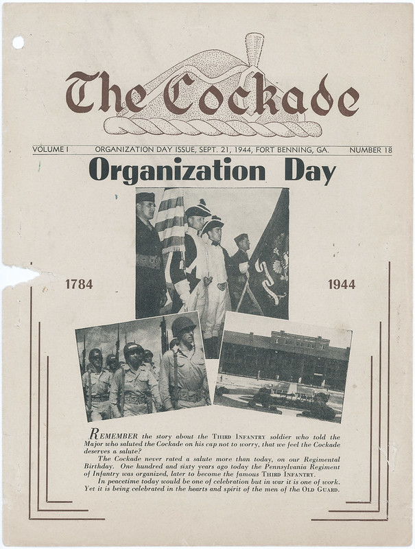 1944-09-21-The Cockade newsletter-Organization Day-Fort Benning-01