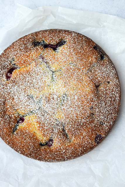 Frozen Berry Buttermilk Snack Cake