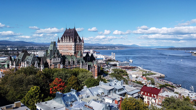 Chateau Frontenac overlooking the st-laurent