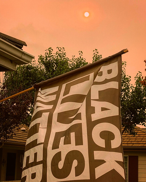 Black Lives Matter under Smoky Skies