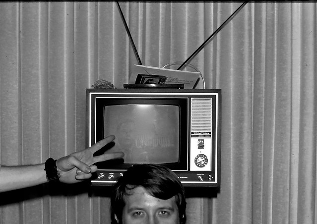 Bob and the Television With Peace Sign