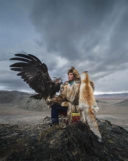 Beautiful Mongolian Eagle Keepers