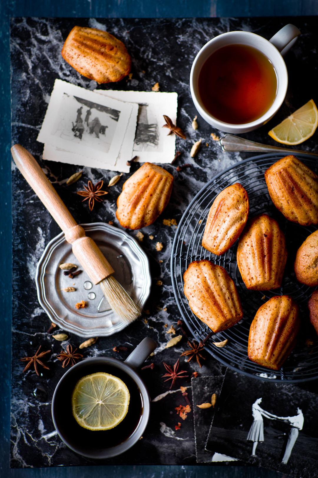 vegan spiced madeleines
