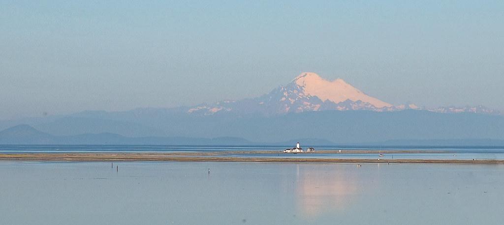 Light House - Mount Baker in distance