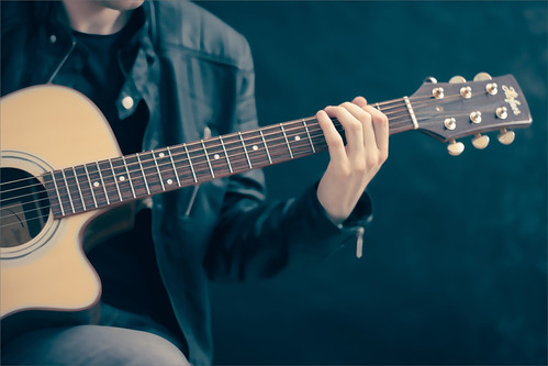 Image of Guitar Play with Median Filter applied
