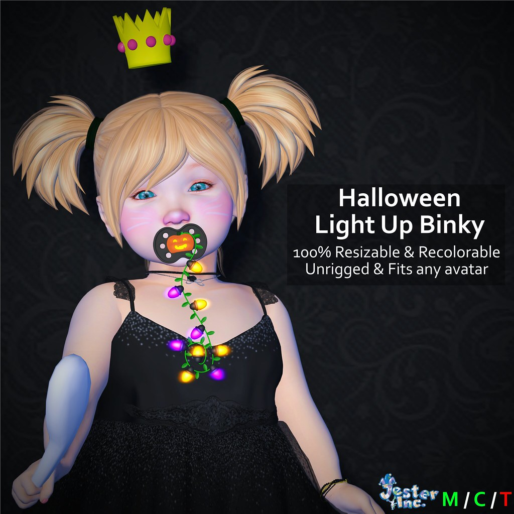 Presenting the new Halloween Light Up Binky from Jester Inc.