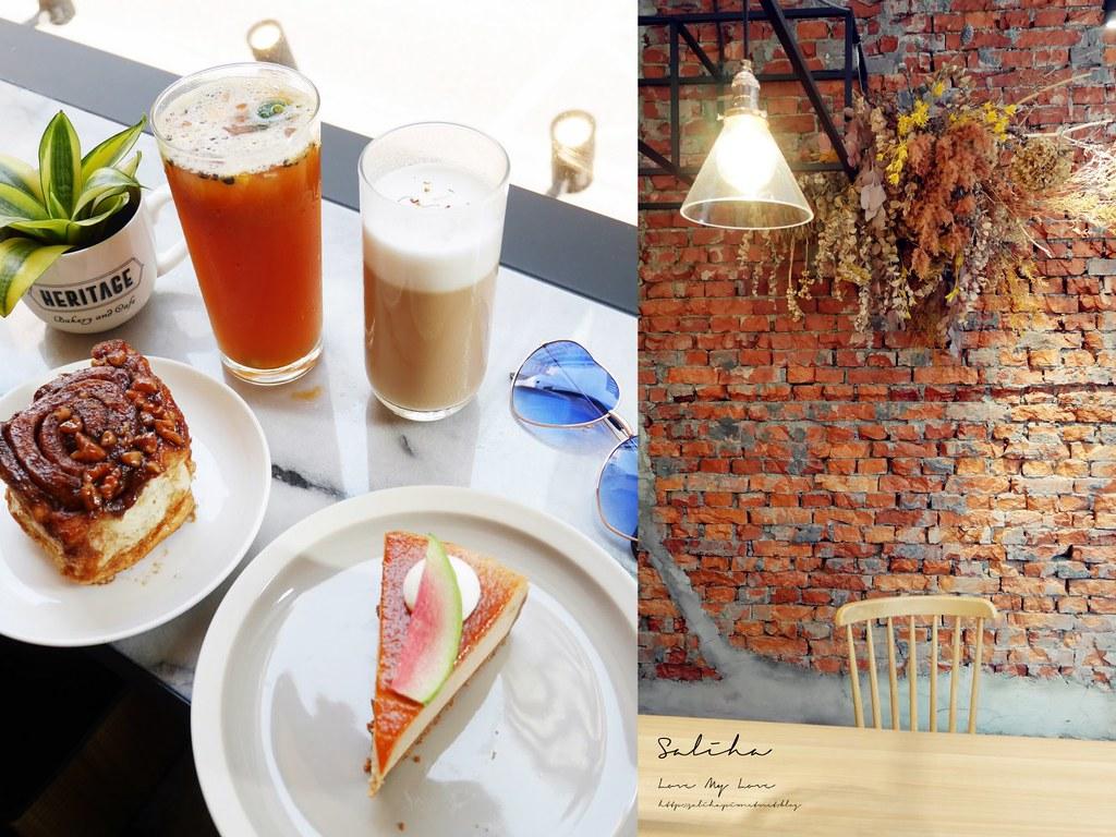 台北咖啡廳下午茶推薦Heritage Bakery Cafe紅心芭樂蛋糕肉桂捲 (3)