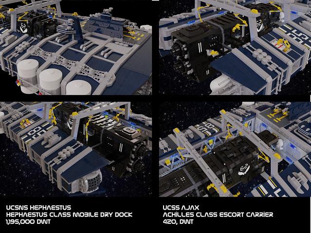Shiptember 2020 UCSNS Hephaestus and UCSS Ajax - Close Ups