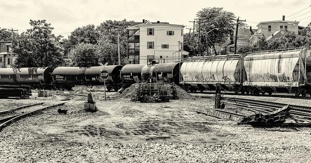 Train-Urban Railyard