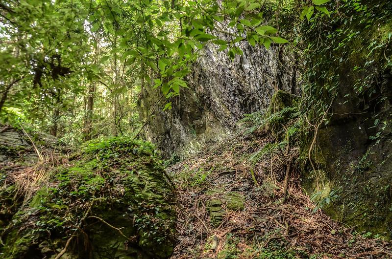 南坑山西北峰路徑巨石峭壁區 (2)