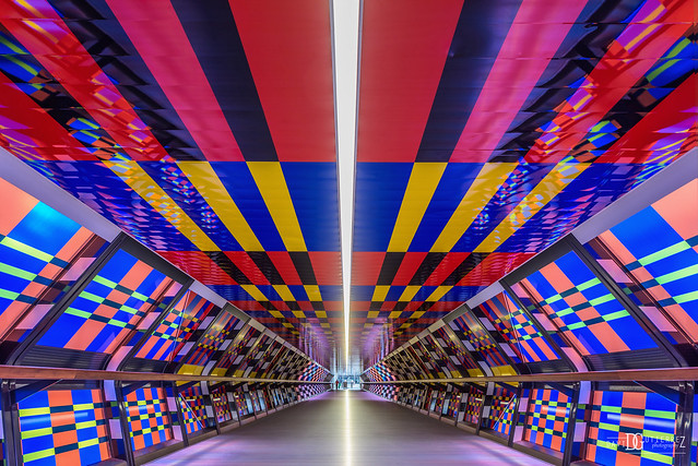 Camille Walala Mural - Canary Wharf, London, UK