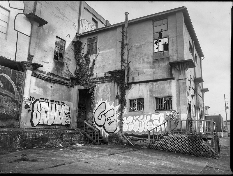 industrial architecture, abandoned, urban decay II, Asheville Waste Paper Company, Asheville, NC, Mamiya 645 Pro, mamiya sekor 45mm f-2.8, Fomapan 200, HC-110 developer, 9.19.20