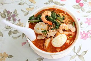 Prawn mee, Curry Leaves, Flushing, Queens