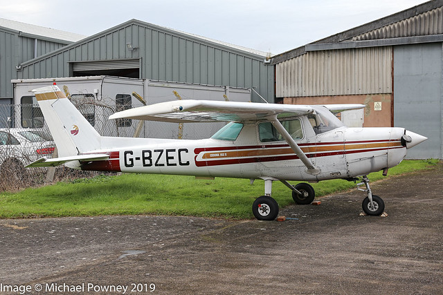 G-BZEC - 1980 build Cessna 152 II, parked at Gloucester