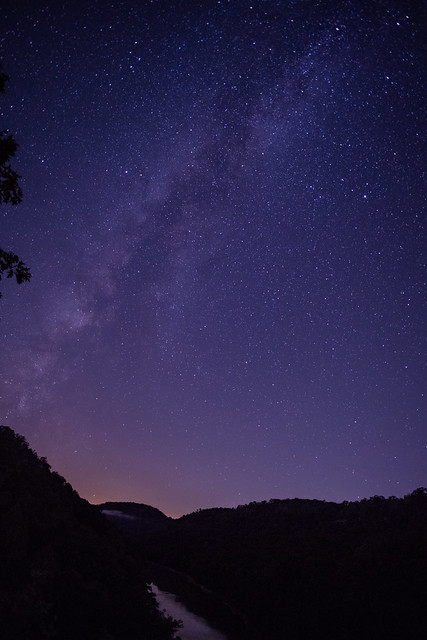 After the moon set, Appalachia's sky came out to play