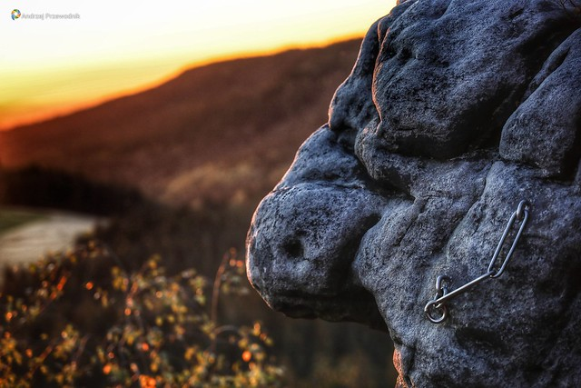Zachód słońca w Górach Stołowych