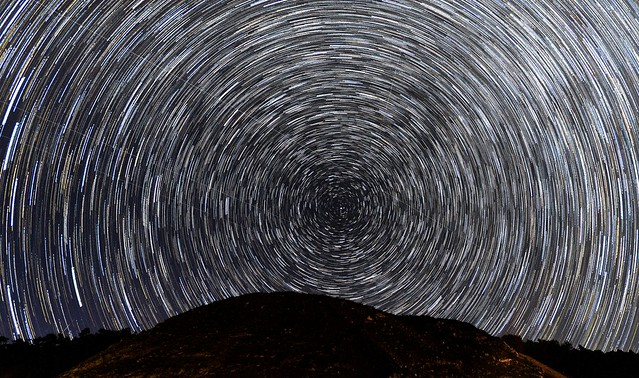 Photographing star trails for the first time