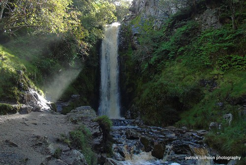 glenevinwaterfall inishowen nature landscape donegal ireland stream sunrays