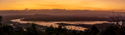 noosa landscape sunshinecoast lagunalookout australia outdoor evening river sunset